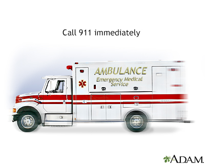 Ambulance - call 911